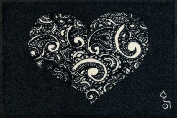 """Fußmatte """"Liebe ist alles"""", wash & dry Qualität, Dessin Rollin' Art, 50 x 75 cm, Draufsicht"""