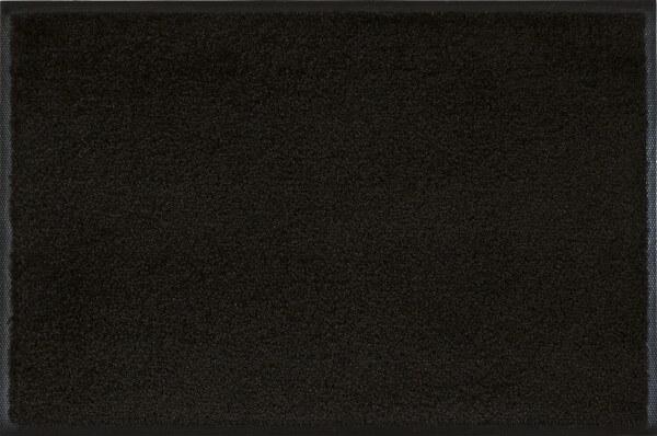 Fußmatte uni Raven Black, Wash & Dry Monocolour, 040 x 060 cm, Draufsicht