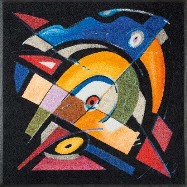 Fußmatte balanced rhythm I, Wash & dry Special Art, 85 x 85 cm, Draufsicht
