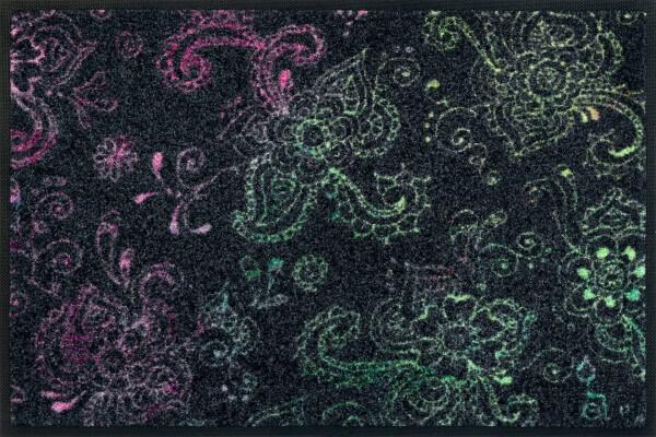 Fußmatte Mehndi, Design von Rollin' Art, Wash & Dry Kollektion, 40 x 60 cm, Draufsicht