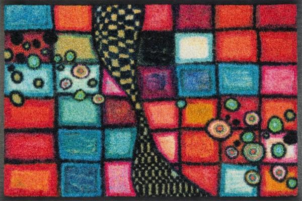 Sauberlaufmatte Tiger Tundra, Wash & Dry Special Art, mehrfarbig, 40 x 60 cm, Draufsicht