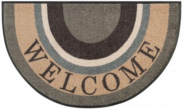 Fußmatte Round Welcome, Sonderformat, 50 x 85 cm, Draufsicht