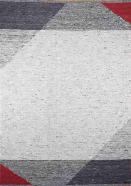Handwebteppich Black Forest Ruhestein, aus gewalkter Schurwolle, beidseitig verwendbar, Draufsicht