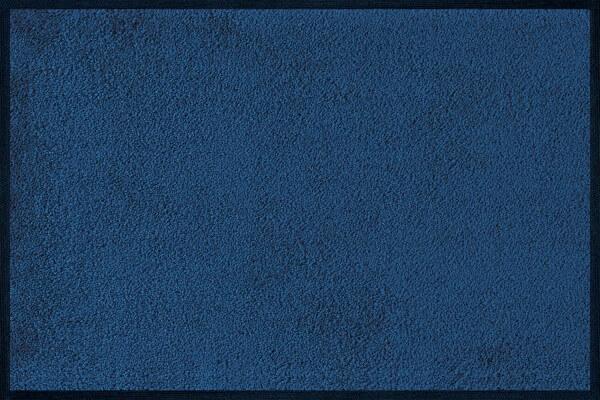 Fußmatte uni Navi, Wash & Dry Monocolour blau, 040 x 060 cm, Draufsicht